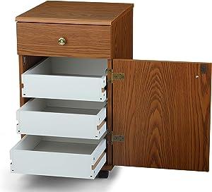 Arrow 800 Suzi Sidekick Portable Sewing, Crafting, and Quilting Storage and Organization Cabinet, Oak Finish