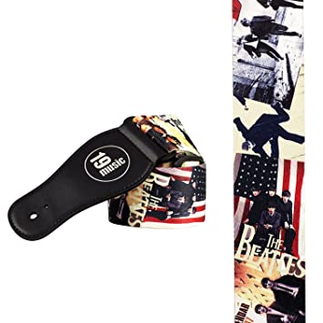 La correa de la guitarra de los BEATLES también popartuk otros 60s iconos: Amazon.es: Instrumentos musicales