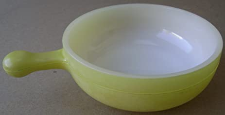 Amazon.com | Vintage Glasbake Soup Bowl - Yellow: Yellow Soupbowls ...