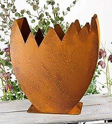 Edelrost Krone Mary rostig Blumentopf Schale Metall Gartendeko  Rostkrone