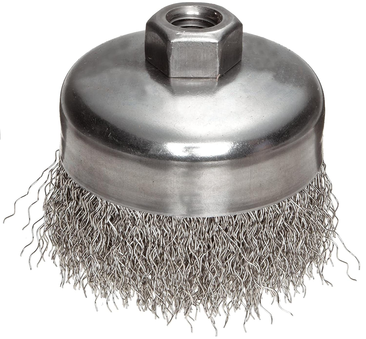 5//8-11 Arbor 5 Diameter 0.02 Wire Diameter 5//8-11 Arbor 1-1//4 Bristle Length Weiler Corporation 14216 Threaded Hole 8000 rpm Pack of 1 0.02 Wire Diameter Crimped Wire 1-1//4 Bristle Length 5 Diameter Steel Weiler Wire Cup Brush