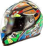Suomy Halo Streetbike Racing Motorcycle Helmet, Pinball, Large