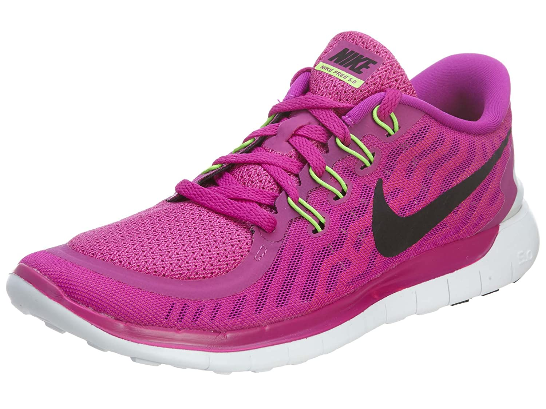 - Violet (Fuchsia Flash noir rose Power Hot Lava) Nike Free 5.0, baskets Femme 42.5 EU