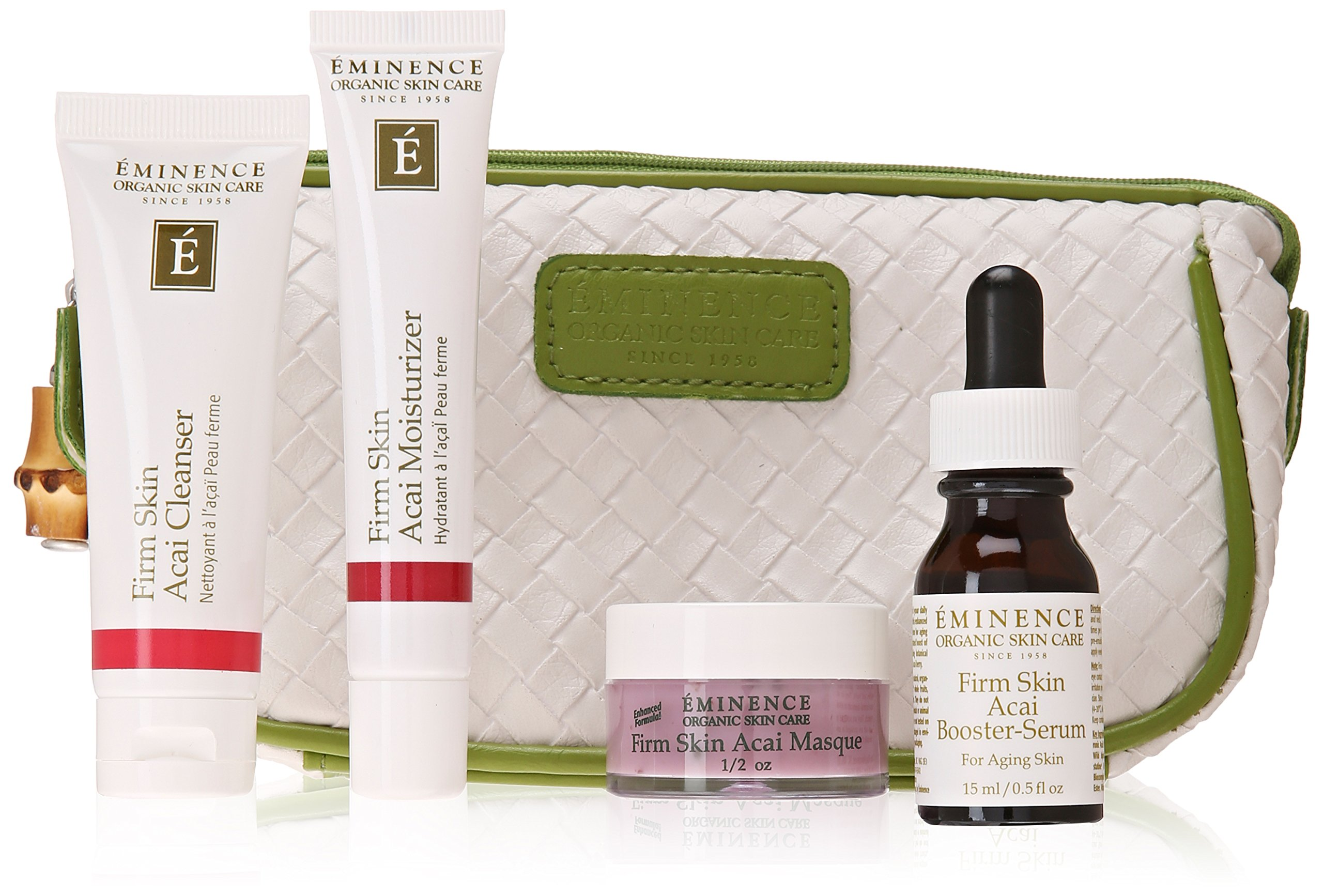 Eminence Organic Skin Care Facial Skin Care Kit (EM919T) Cleansing Block Purifying Perfecting Toner 13.4oz
