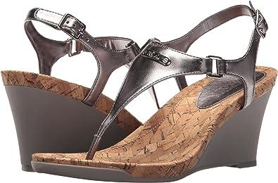 "Lauren Ralph Lauren Womens Size 9 B Silver Ankle Strap 3"" Heel Sandals  QQ"