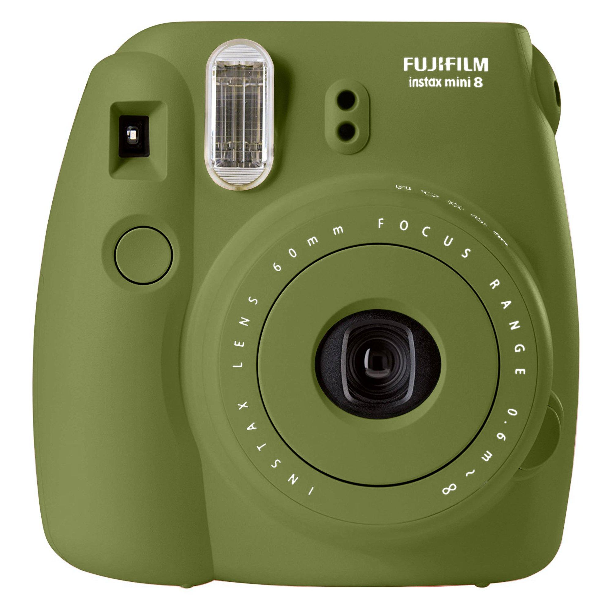Fujifilm instax mini 8 Instant Film Camera (AVOCADO) - International No Warranty