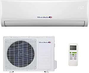 Classic America Ductless Wall Mount Mini Split Inverter Air Conditioner with Heat Pump, 24,000 BTU (2 Ton), 15 SEER 220-230 VAC, Full Set