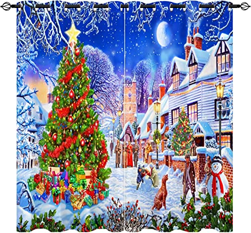 ANHOPE Christmas Curtains - the best window curtain panel for the money