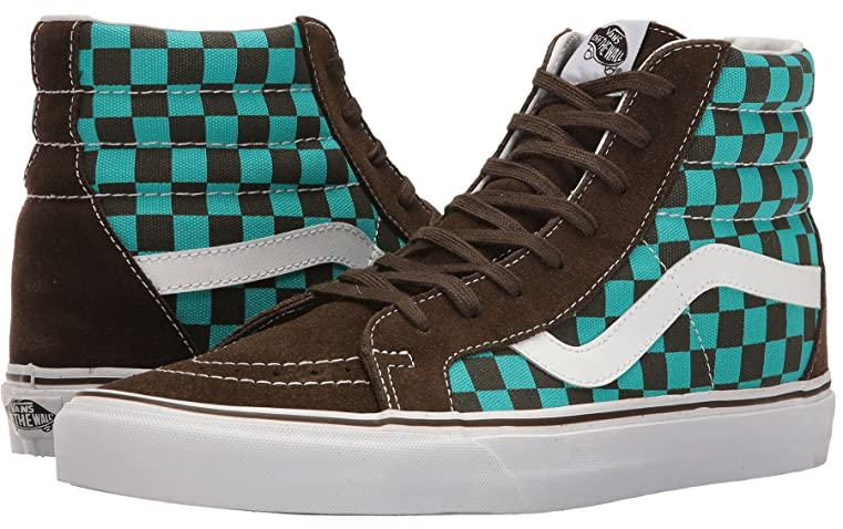 Amazon.com | Vans SK8 Hi Sea Green Brown 50th Womens Suede Skate Trainers |  Boots