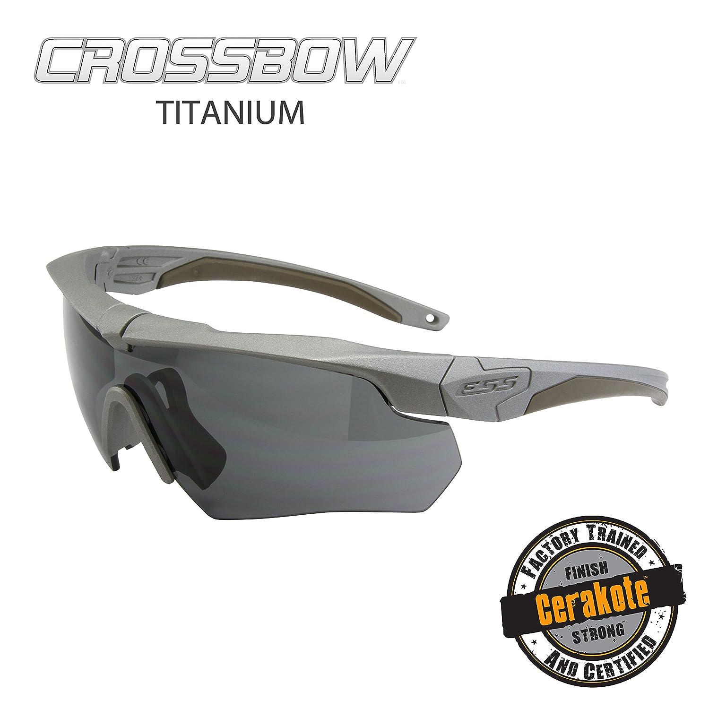 ESS サングラス CROSSBOW クロスボウ 740-1006 セラコート_チタニウム スモークグレー   B01EW98RE0