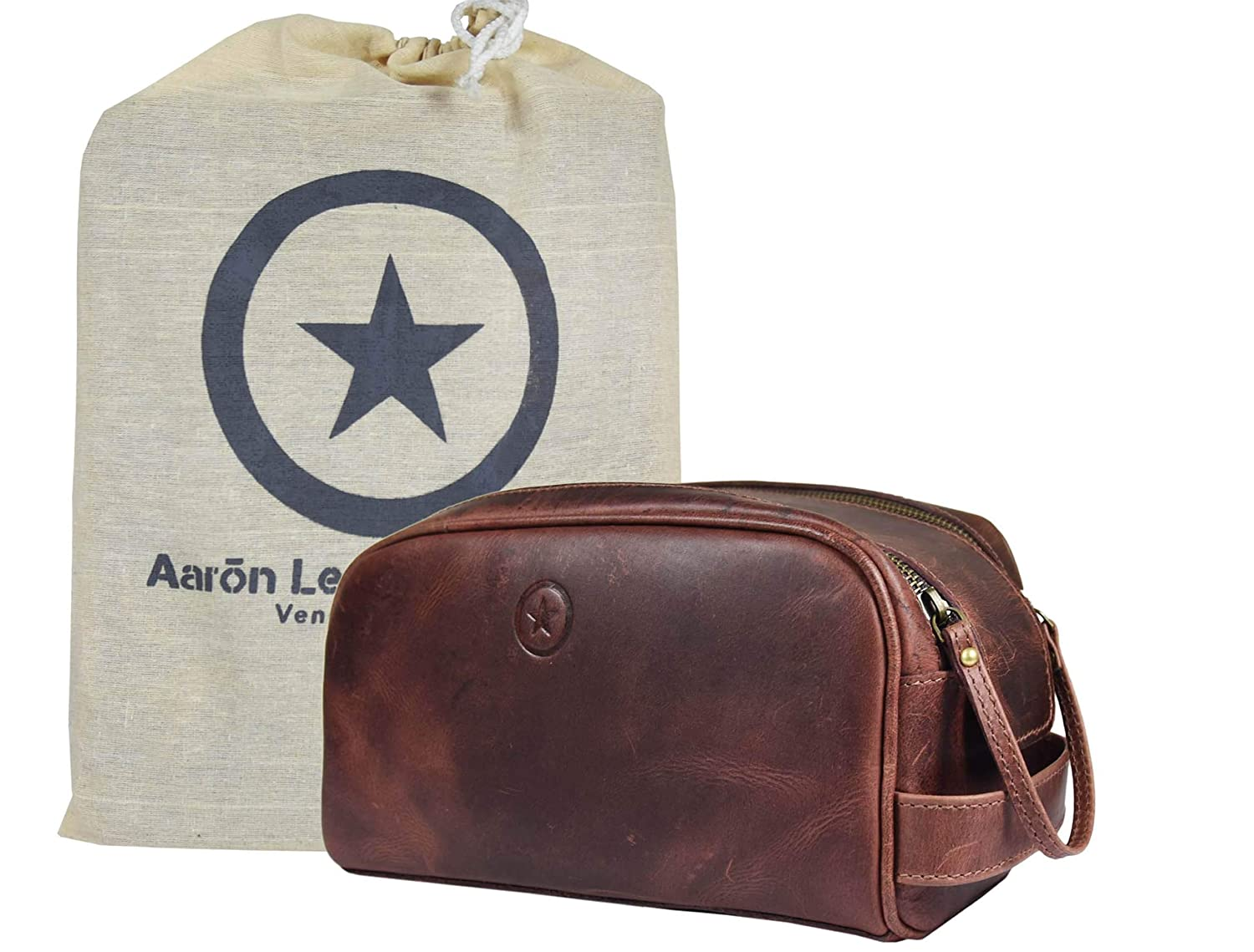 88fca1697b00 Amazon.com   Leather Toiletry Bag for Men