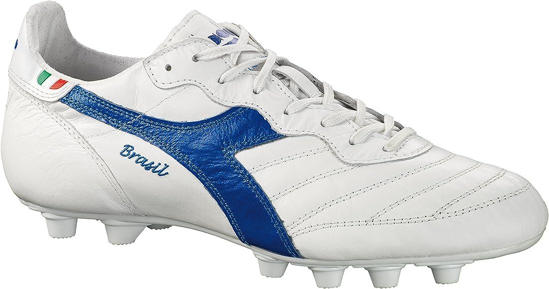 new arrival 1be56 c9499 Diadora Men s Brasil Italy OG MD Soccer Cleats, White Kangaroo Leather,  Polyurethane, 12.5