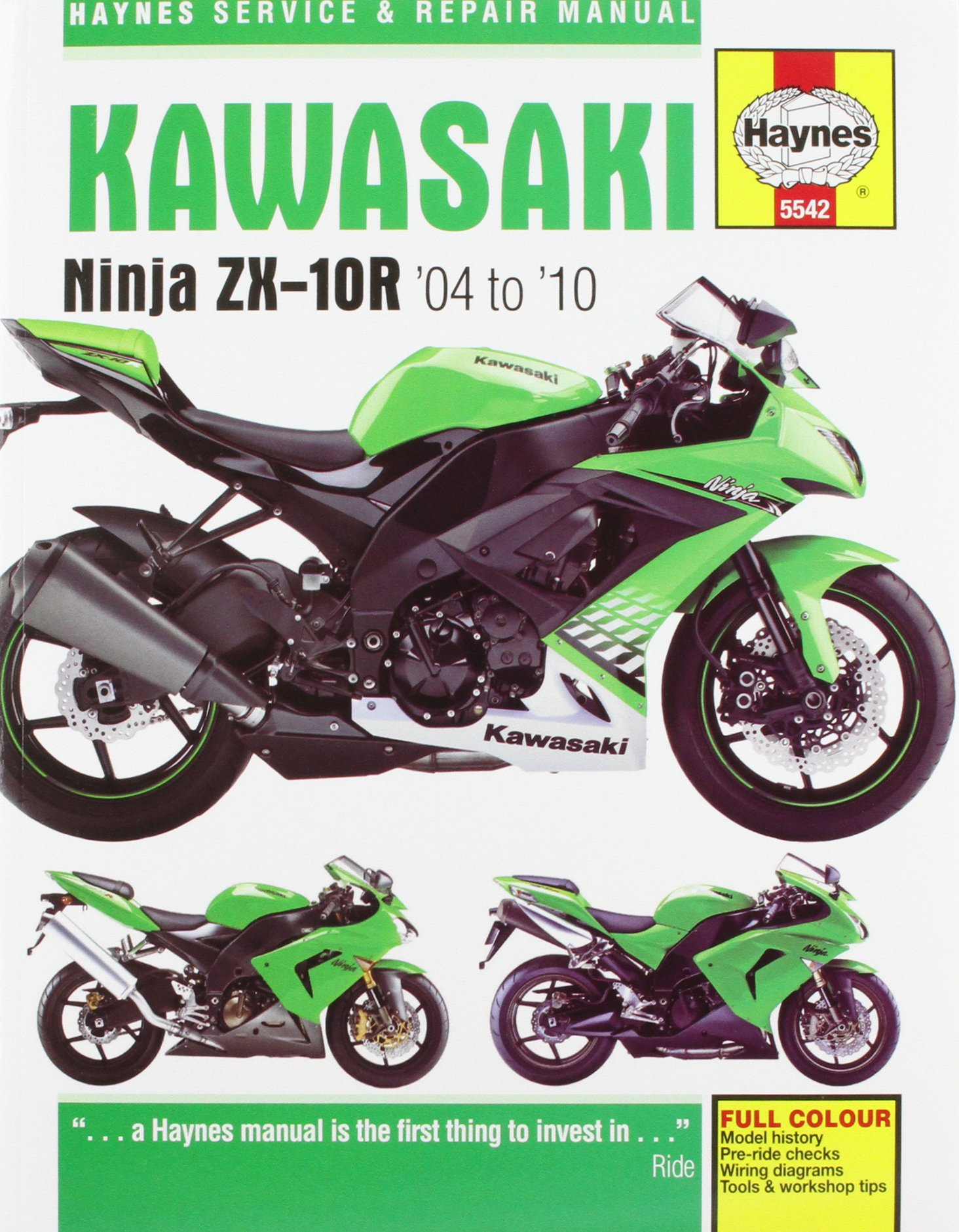 Kawasaki ZX-10R Service and Repair Manual: 2004-2010 (Haynes Service and Repair  Manuals): Matthew Coombs: 9780857335425: Amazon.com: Books