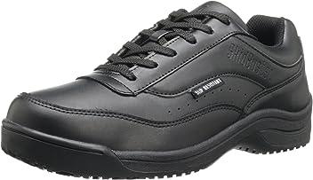 Skidbuster Footwear Mens 5052 Waterproof Action Leather Super Slip Resistant Black 7 D