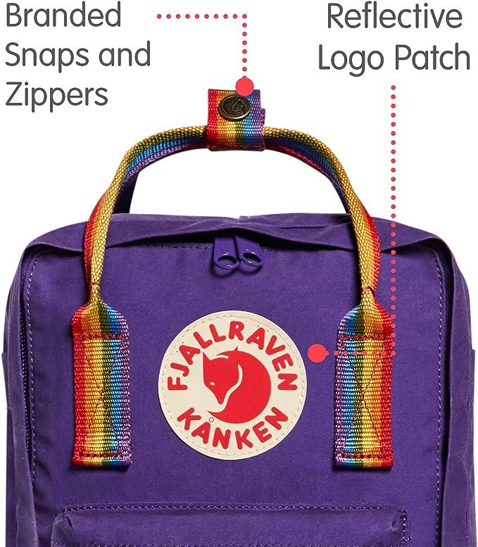 Unisex Adulto, Purple//Rainbow Pattern Talla /Única FJALLRAVEN K/ånken Mini Mochila