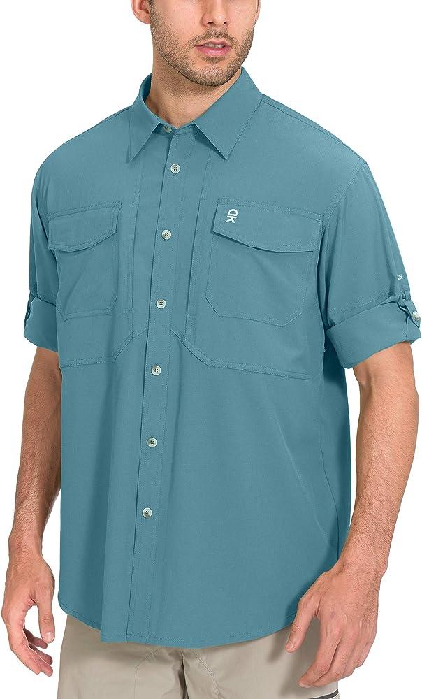 UV Protection Shirt Little Donkey Andy Mens UPF 50 Mosiquito Repellent Long Sleeve Fishing Hiking Shirt