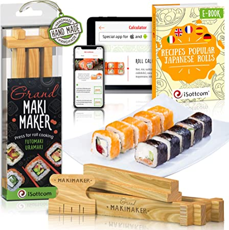 Sushi Making Kit by iSottcom - Sushi Kit for Chefs and Beginners ...