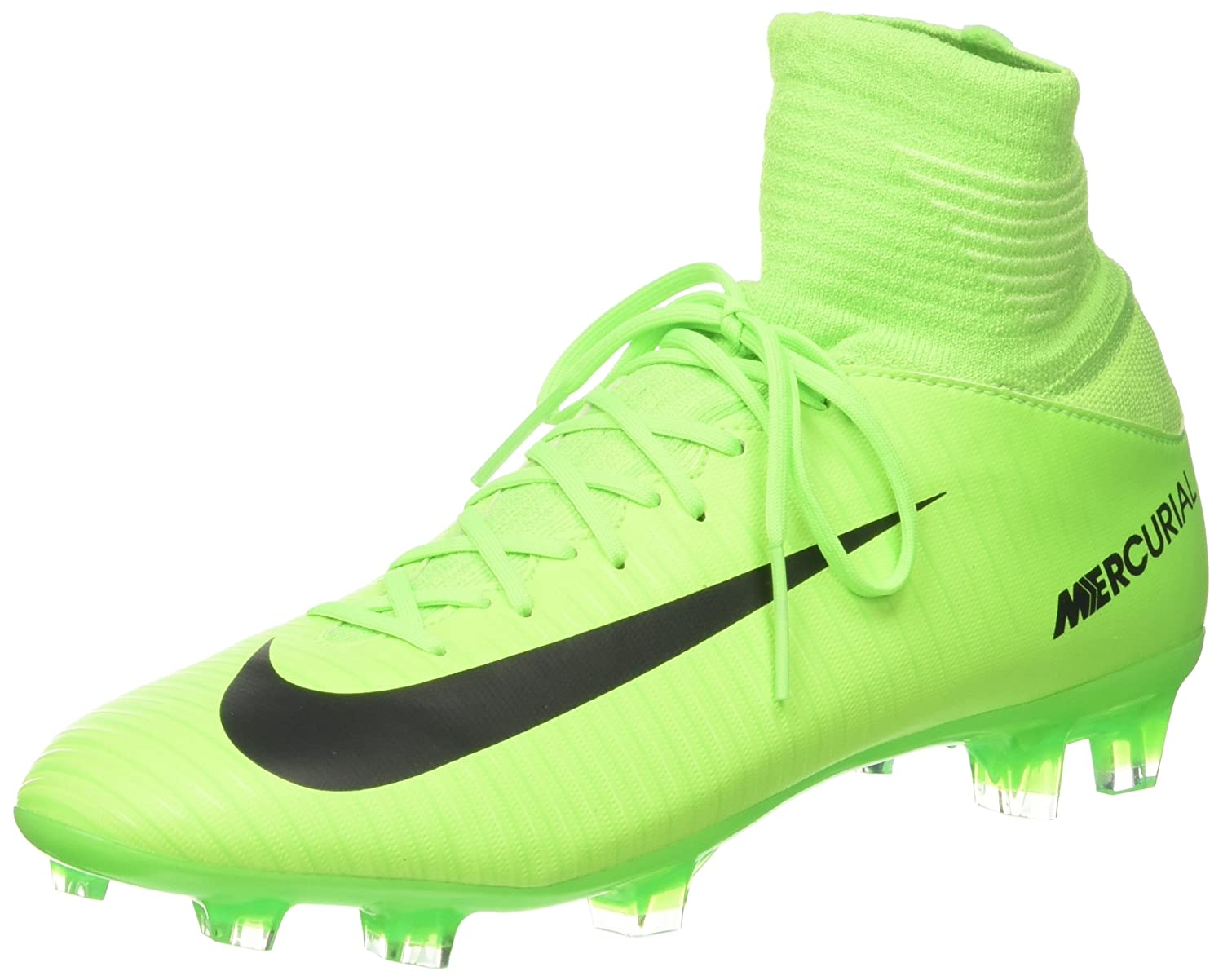 new product 439af 8b447 Amazon.com   Nike Kids Mercurial Superfly V FG Electric Green Black Flash  Lime Soccer Shoes - 4Y   Soccer
