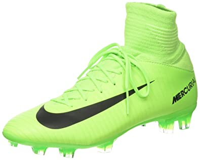 1cfd7565b Nike Kids Mercurial Superfly V FG Electric Green/Black/Flash Lime Soccer  Shoes -