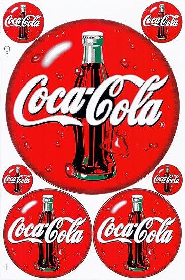 "COCA COLA PEPSI COLA DECAL SODA CAP STICKER 6/"""
