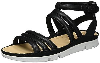 42fc185082 Clarks Women's Tri Nyla Wedge Heels Sandals, Black (Black Leather), UK 4.5