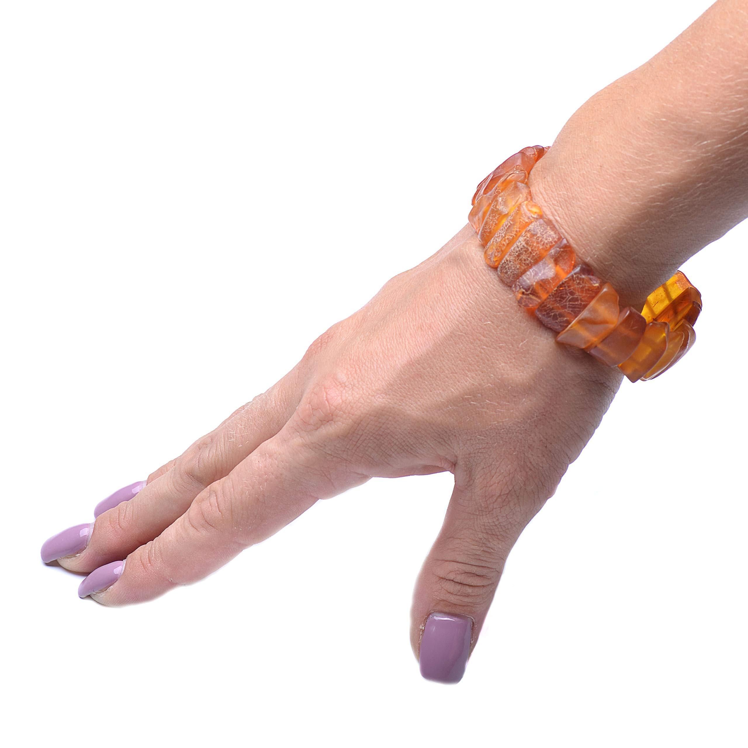 Amber Bracelet - Unique Amber Bracelet - Exclusive Amber Bracelet - Vintage Bracelet - Genuine Baltic Amber by Genuine Amber (Image #5)