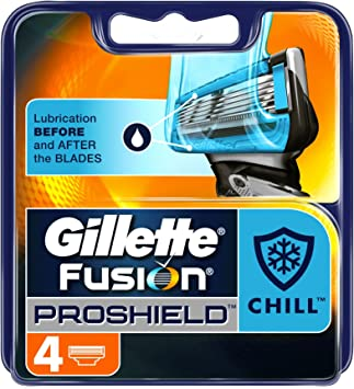 Gillette Fusion Proshield Chill Cuchillas Pack de 4: Amazon.es: Salud y cuidado personal