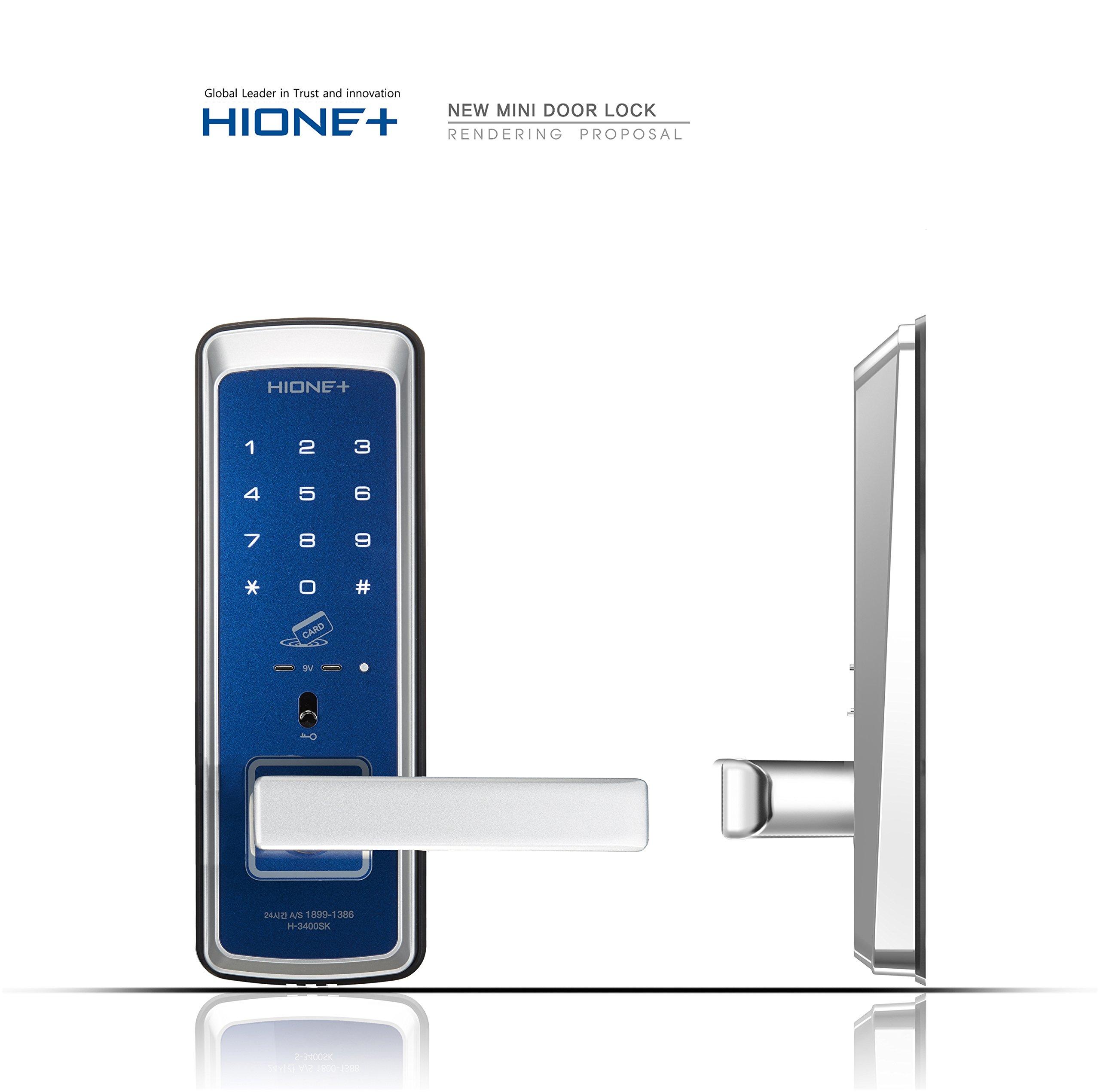 HionePlus H-3400SK, Digital Mini Main Door Lock, PIN+Card+Emergency Key