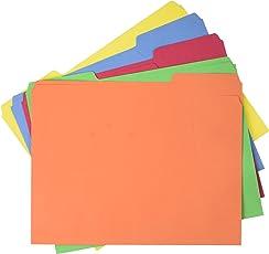 AmazonBasics Carpetas de archivos, tamaño carta (paquete de 100), colores variados