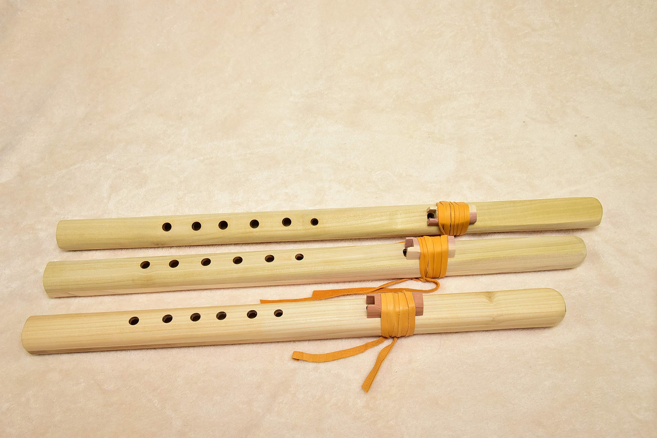 Windpony Unfinished Poplar Flute set - A, G and F# by Windpony
