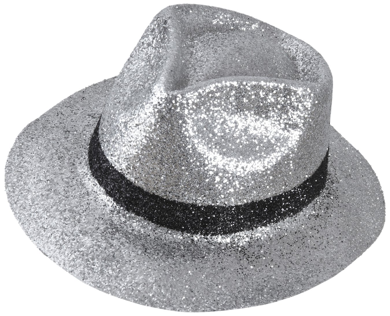 Amazon.com  Adult s Silver Glitter Fedora Hat  Health   Personal Care 8f7956a1f74