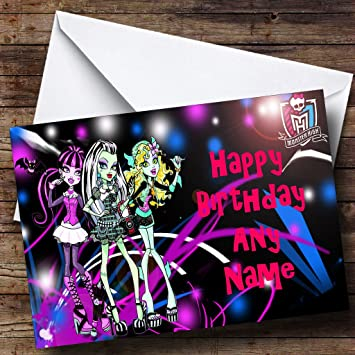 Personalised Monster High Birthday Card Amazon Office Products