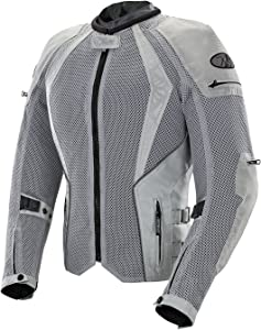 Joe Rocket Cleo Elite Women's Mesh Motorcycle Jacket (Silver, Small)