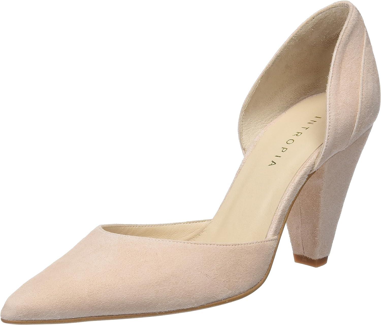 TALLA 40 EU. Intropia P956zap06506, Zapatos de tacón con Punta Cerrada para Mujer