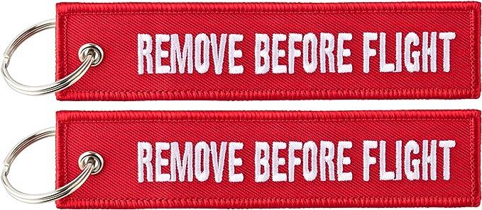 Anhänger Mit Remove Before Flight 2 Stück Pack Bekleidung