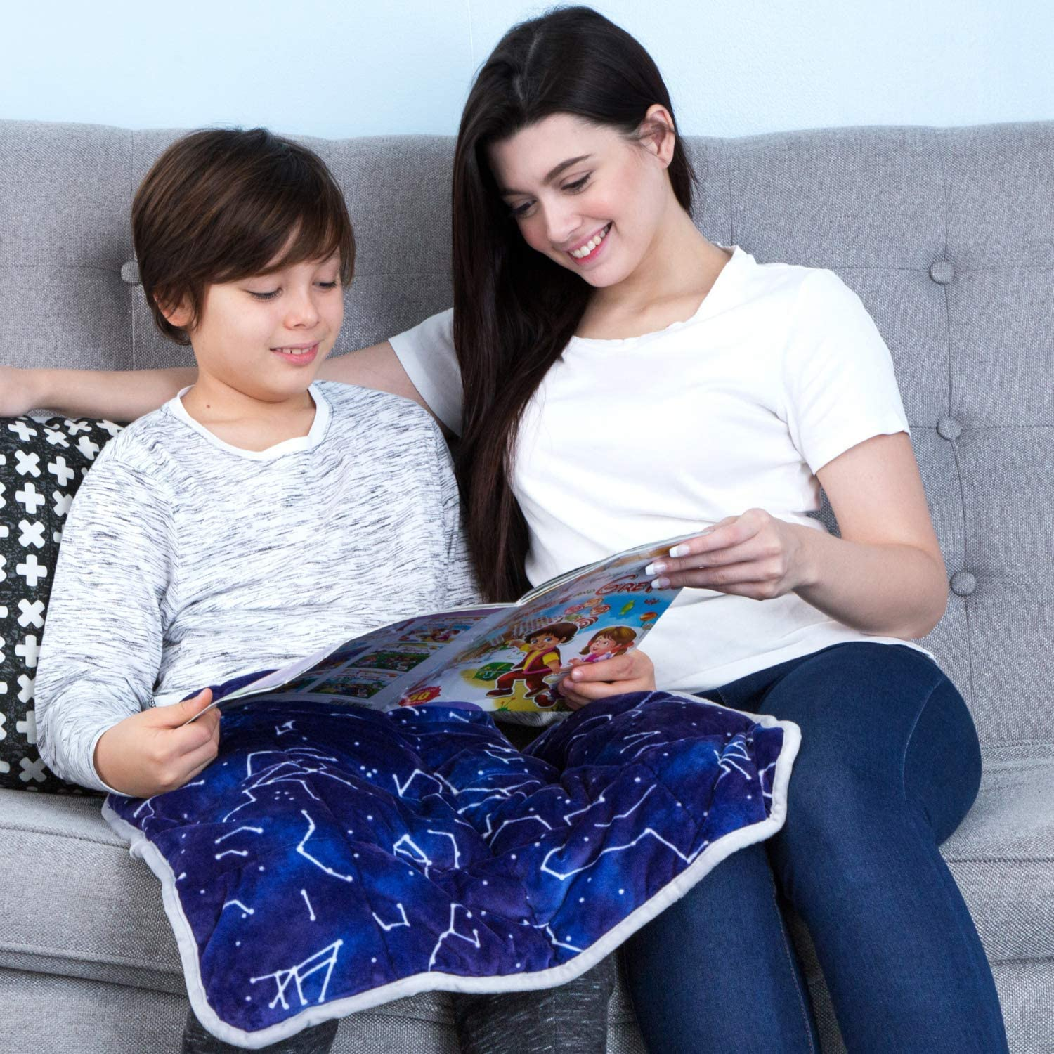 Weighted Lap Pad Work For Kids Adults 3lbs Mermaid Lap Blanket For School