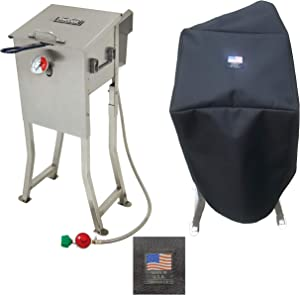 Enterprises 700-725 PVC Coated Polyester Cover Full Custom Protection Made for 2.5 Gallon Deep Fryer Protection from The Elements Made in The USA Compatible with Bayou Classic Deep Fryer