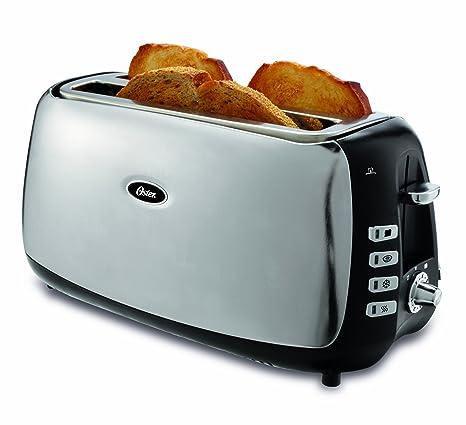 Amazon.com: Oster tsstjcps01 ranura tostador, acero ...