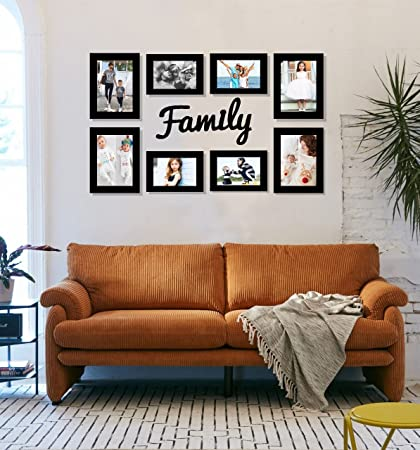 paper plane design family tree set of 8 individual wall photo frame with mdf plaque