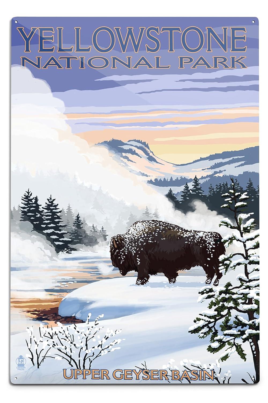 人気を誇る Bison雪シーン Tote – イエローストーン国立公園 Canvas Tote Bag LANT-31749-TT B06Y1FMFWJ 12 B06Y1FMFWJ 18 x 18 Metal Sign 12 x 18 Metal Sign, 黒だし、おかかのおくだ:b6c124b7 --- afisc.net