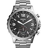 Fossil Herren Hybrid Smartwatch Q Nate - Edelstahl - Silber