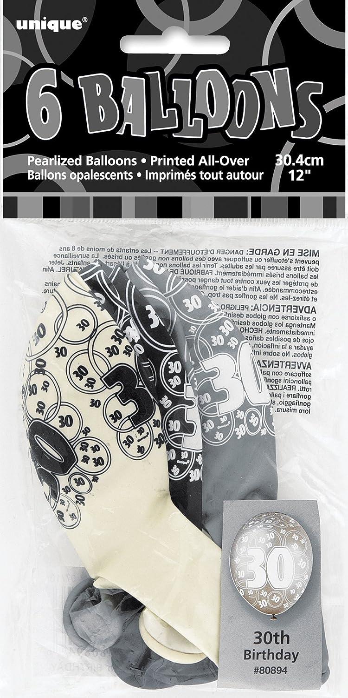 Unique Party Globo foil cumplea/ñosHappy 18th Birthday Color negro edad 18 55145
