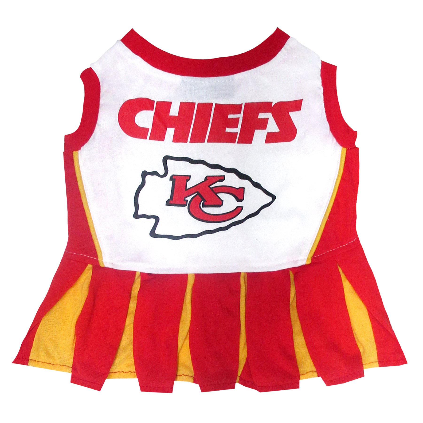 Kansas City Chiefs NFL Cheerleader Dress For Dogs - Size Medium