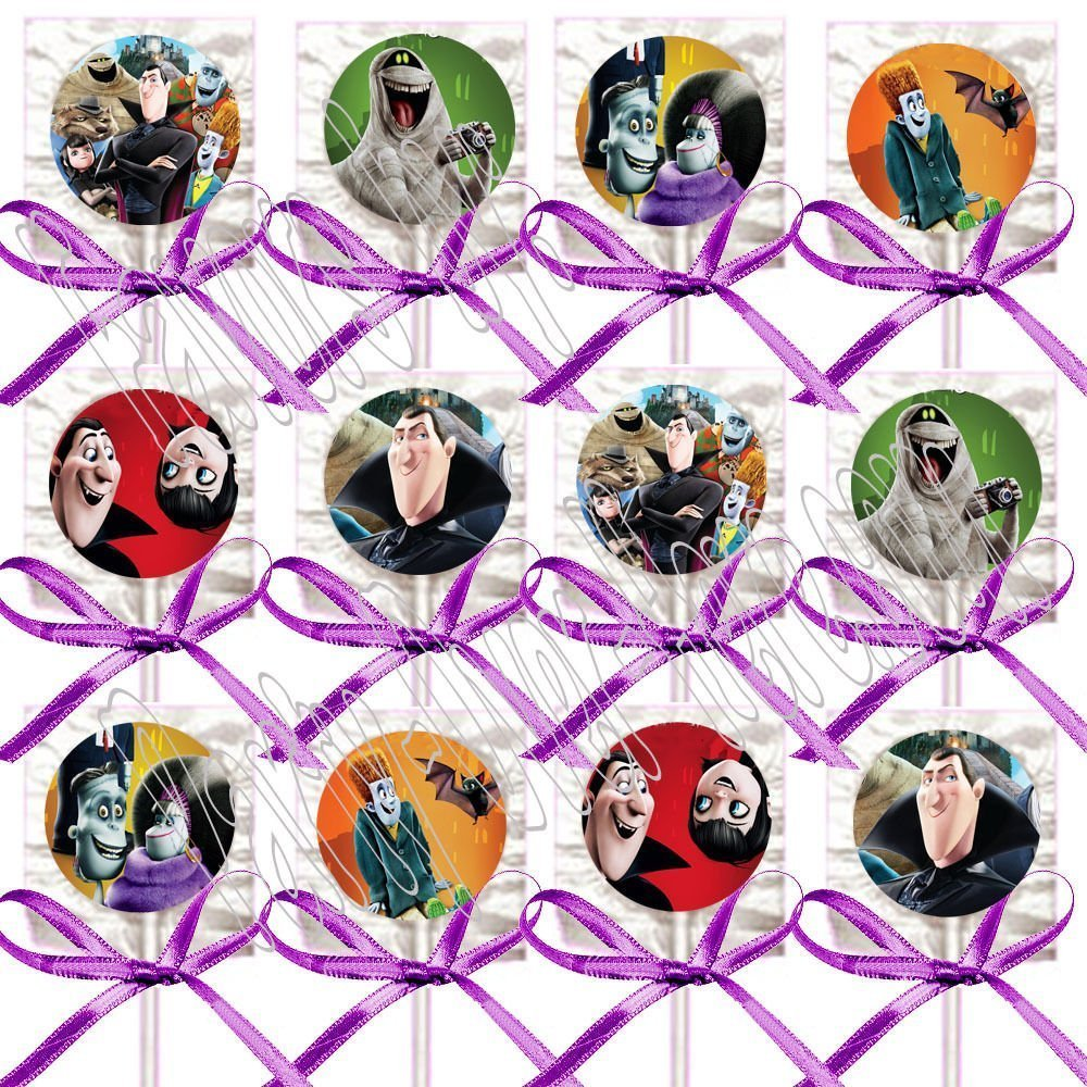 Hotel Transylvania Party Favors Decorations Movie Lollipops w/ Purple Ribbon Bows Party Favors -12
