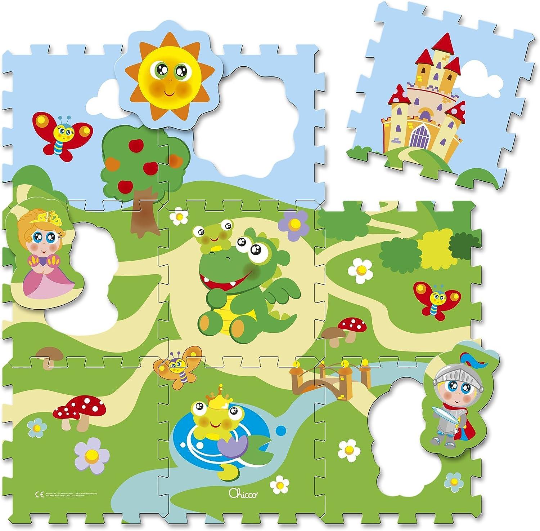 Chicco 00005316000000Puzzle Alfombrillas Candado, 9Piezas, Multicolor