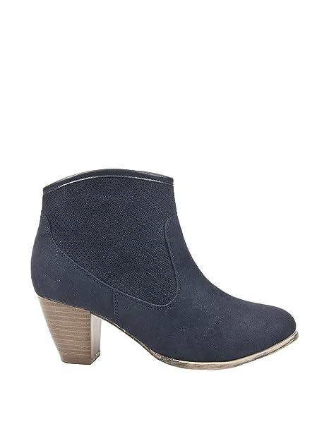 Alex Silva Botines Camperos Azul Marino EU 41: Amazon.es: Zapatos y complementos