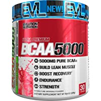 Evlution Nutrition BCAA5000 Powder (30 Servings, Cherry Limeade) 5 Grams of Premium BCAAs