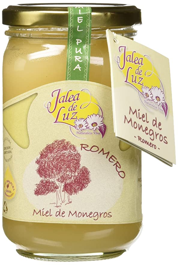 Jalea de Luz Miel Cruda Pura de Romero - 500 gr.: Amazon.es: Alimentación y bebidas