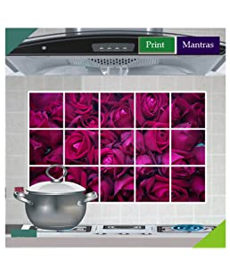 Asmi Collections Beautiful Roses Wall Stickers for Kitchen