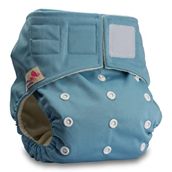 Reusable Pocket Cloth Nappy Fastener: Hook-Loop Pattern 49 with 2 Bamboo Charcoal Inserts Littles /& Bloomz Set of 1